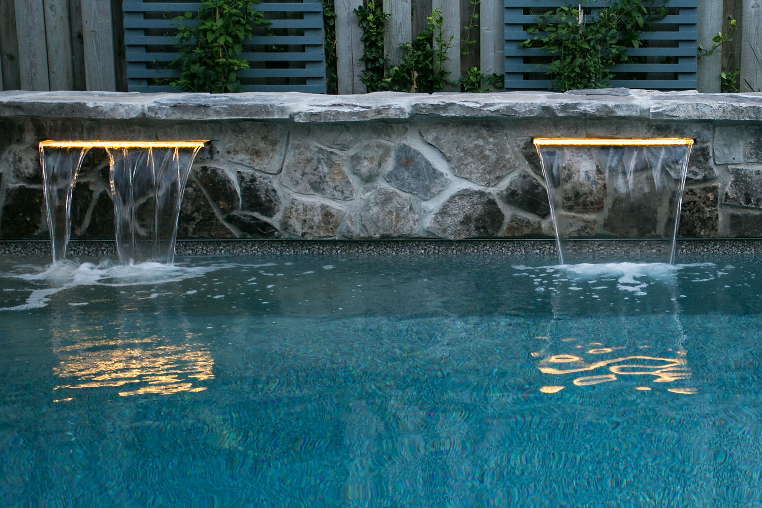 Pool Waterfall Installation