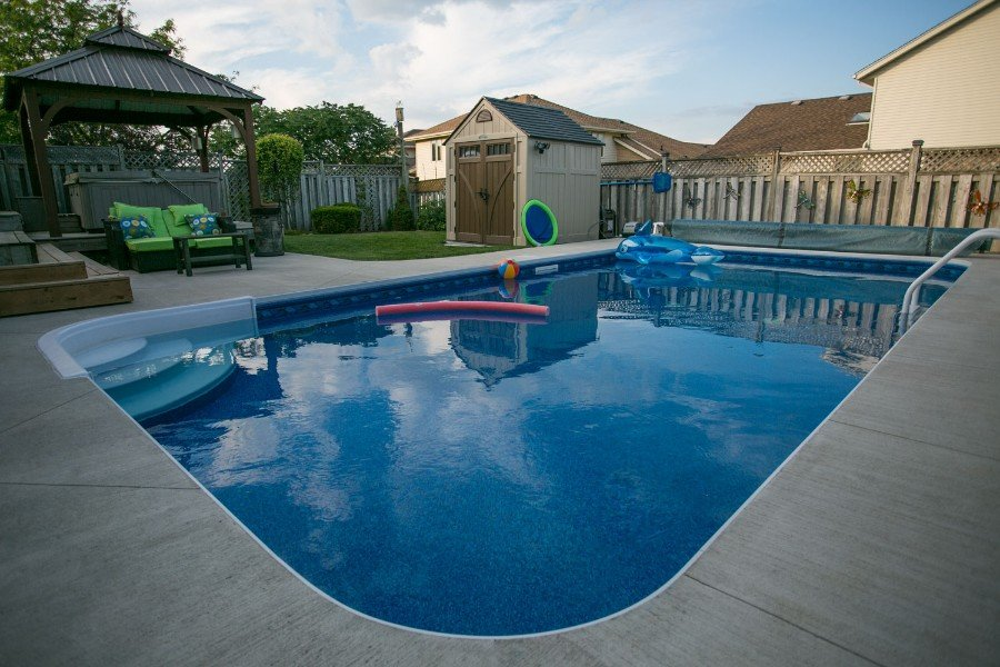 Rectangle Shaped Swimming Pool